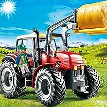 Playmobil, Country, Farm, Tractor, Figure, Farmer