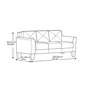 Pleasing Lifestyle Solutions Harrington Sofa In Grey Dark Grey Camellatalisay Diy Chair Ideas Camellatalisaycom
