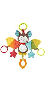Fehn Spielzeug Baby Kleinkind Spieluhr Musik Schlafen Mobile Träumen Weich Fledermaus Melodie