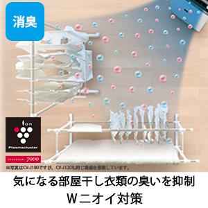 プラズマクラスター 衣類乾燥 除湿 ニオイ 消臭
