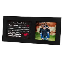 Southern Methodist Mustangs Family Cheer Black Collage Photo Frame