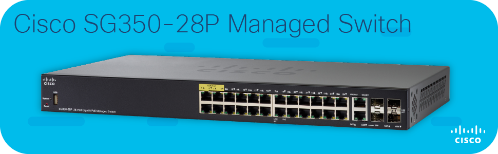Cisco SG350-28P Managed Switch