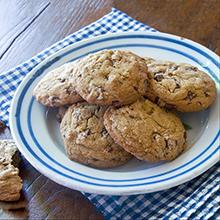 Chocolate Chip Cookies made with India Tree Dark Muscovado Sugar
