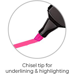 Cello Multicolor Hi-lighter Pens | Chisel Tip for Underlining & Highlighting | Best Hi-lighter pens