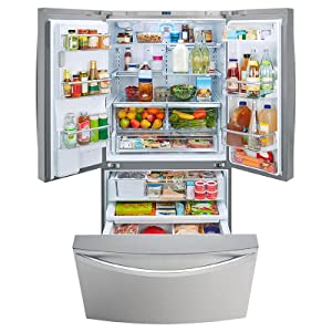 bottom door refrigerator cu products super kenmore elite steel doors capacity french stainless freezer ft prod