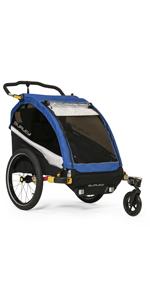 Burley d'lite double 2 kids bike trailer stroller