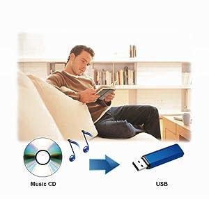 Panasonic DVD-S500 Transfer CDs to USB