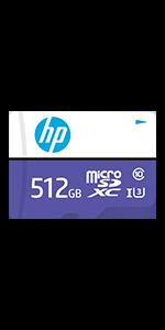 HP 512GB sx330 Class 10 U3 SD Flash Memory Card