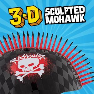 mohawk helmet⸴ 3d helmet