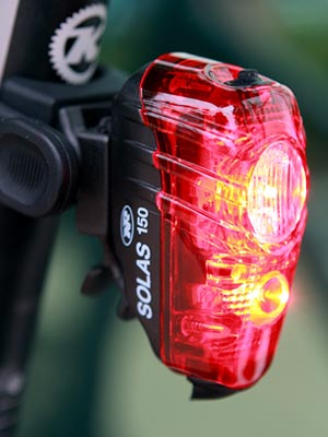 Niterider Solas 150 LED Bicycle Tail Light Daylight Visible Red USB Rechargeable