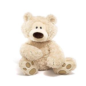 philbin beige bear classic modern teddy bear stuffed animal plush plushie stuffie gund paws big