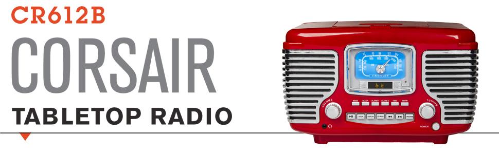 Crosley Corsair Retro Radio