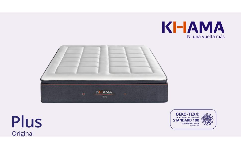 KHAMA El colchón de muelles ensacados y látex Que se Adapta a ...