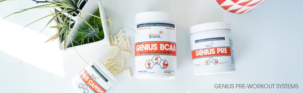 Genius Protein;Genius Pre WOrkout;The Genius Brand
