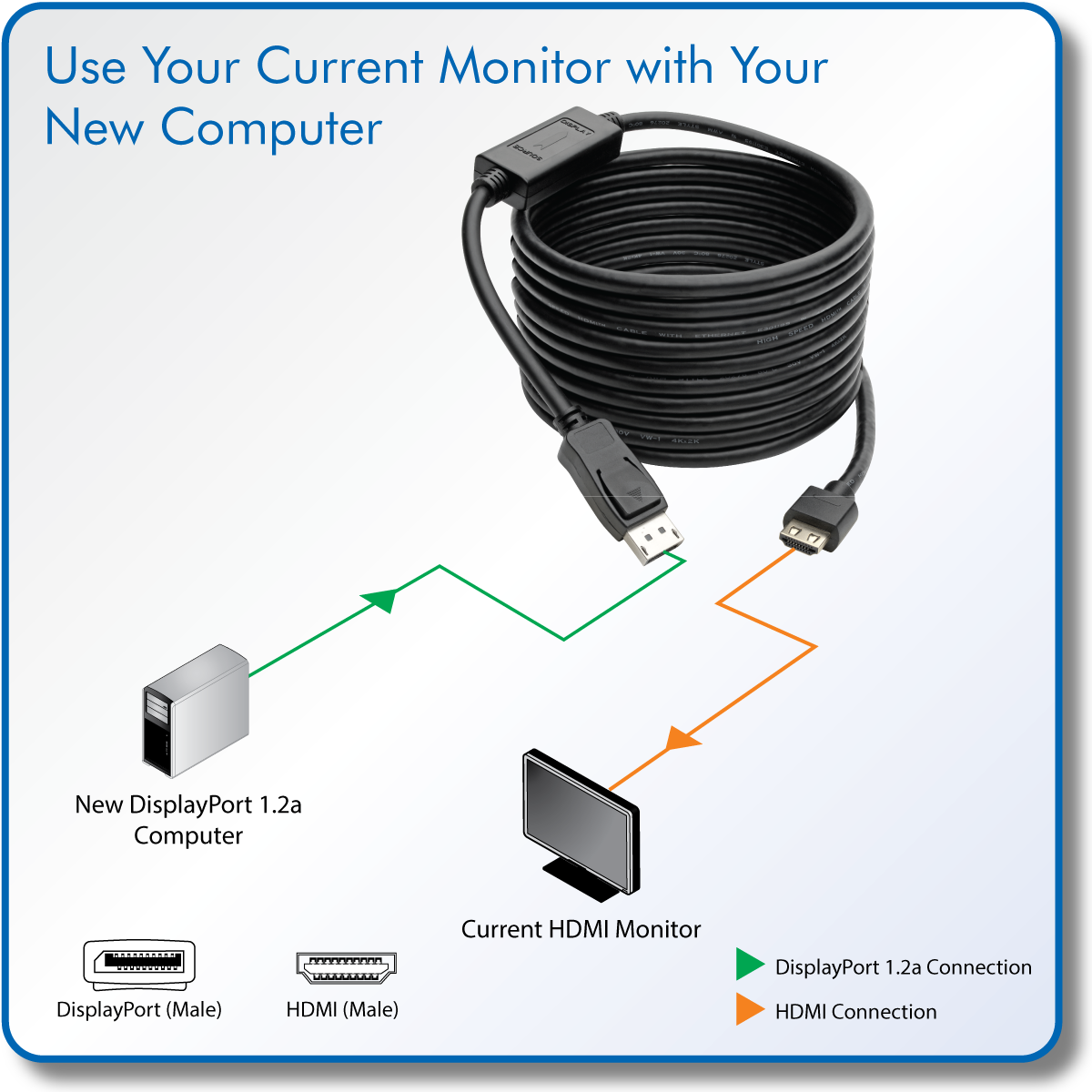 Tripp Lite Displayport 12a To Hdmi Adapter Cable Wiring Diagram For Plug View Larger