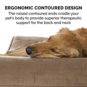 ergonomic; therapeutic; orthopedic; contour; cradle; high loft; supportive