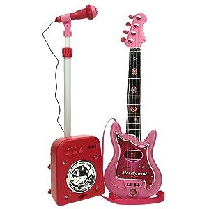Conjunto Guitarra, Micrófono y Bafle Mss Sound (8441)
