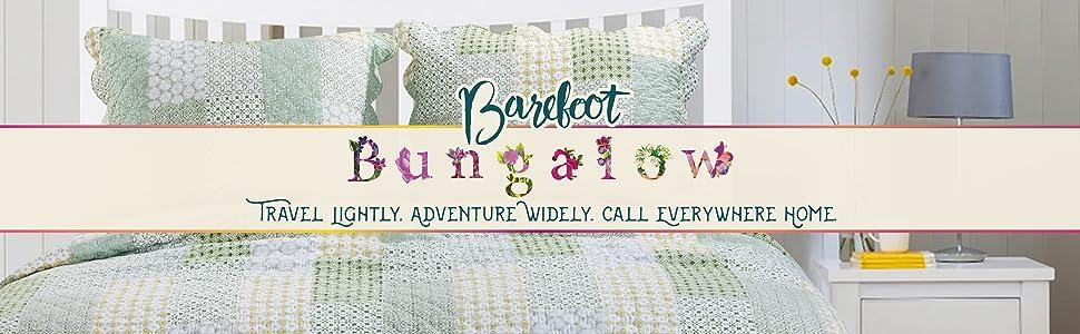 Barefoot Bungalow Juniper Quilt Set Sage King