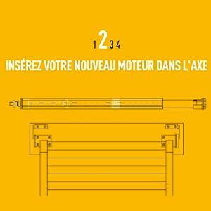 Somfy 1240388 Kit De Remplacement De Moteur Pour Volet Roulant Tradi Radio Rts 10 Nm Fenêtre