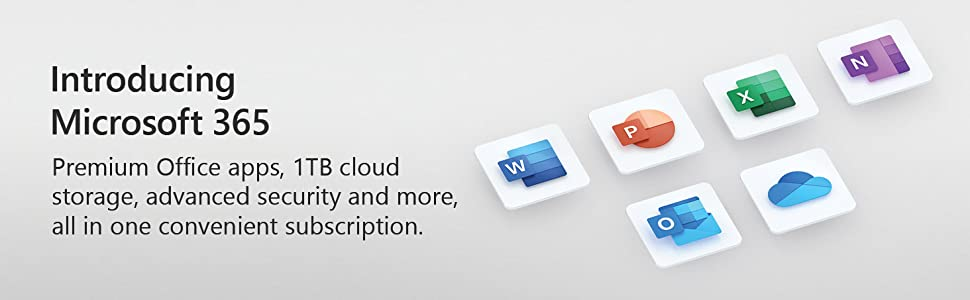 Introducing Microsoft 365 with Premium Office apps, 1TB cloud storage and more