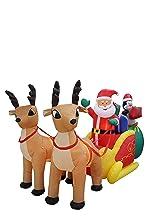 bzb goods christmas reindeer inflatables leds yard garden decoration decorations outdoor snowman