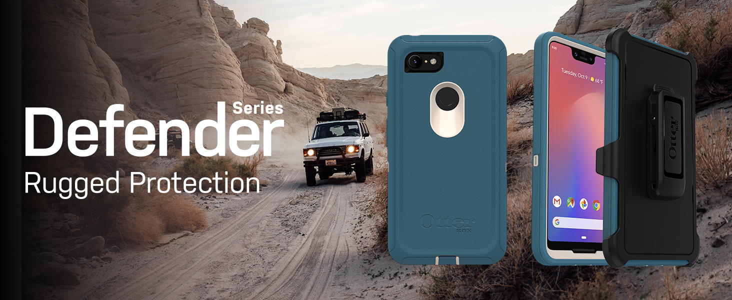 low priced f8fbc 3b9af OtterBox Defender Series SCREENLESS Edition Case for Google Pixel 3 XL -  Retail Packaging - Black