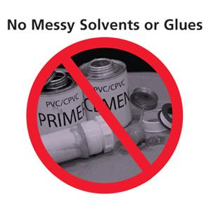 No Glue or Solvents