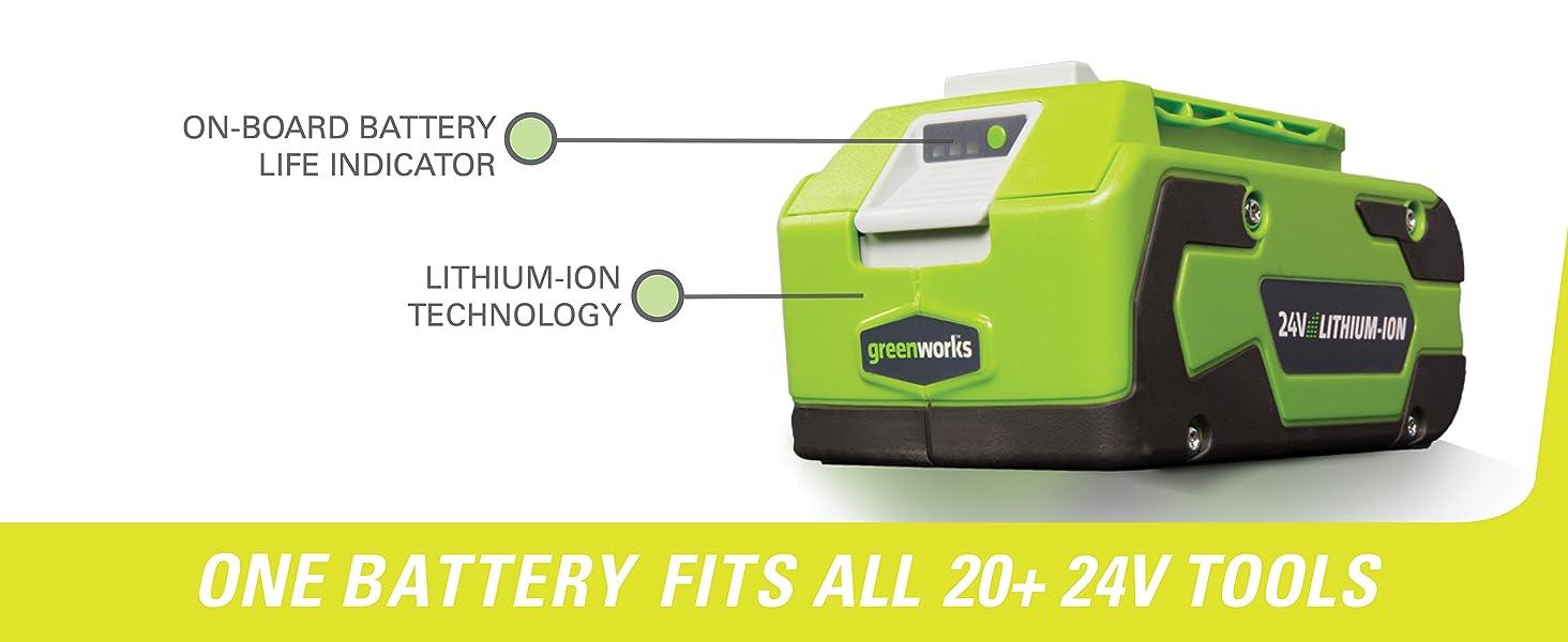 24v battery greenworks