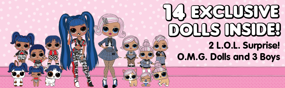 Surprise 70+ Surprises /& 2 Playset * LOL Amazing Surprise with 14 Dolls L.O.L
