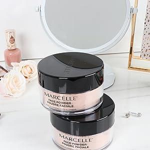 Marcelle Loose Powder Translucent, Medium, Face Powder