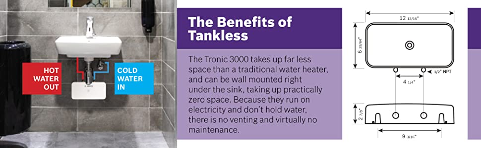 bosch, water heater, electric tankless