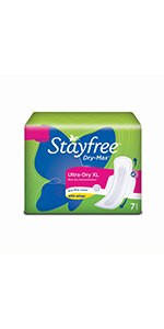 Stayfree Secure Cottony Extra Large, sanitary pad,  Stayfree All Nights Dry Max; Stayfree Pads
