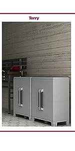 armadio da esterno, armadio in plastica, armadio ripiani regolabili, mobile da esterno
