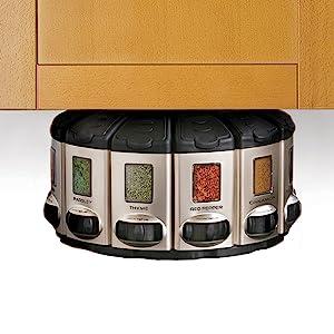 under cabinet spice storage; mount under cabinet; spice storage under cabinet; spice organzier