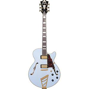 DAngelico Deluxe SS, Electric Guitar with Stairstep - Matte Powdered Blue