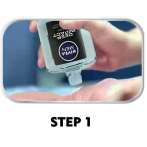 Dispense product onto your palms