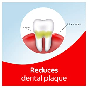 Reduces dental plaque