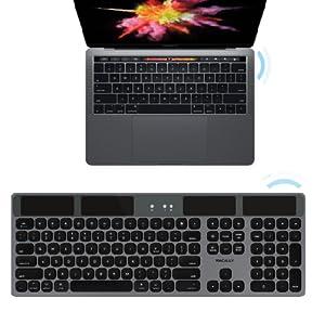 Bluetooth Wireless Solar Keyboard for Mac Mini Pro iMac Desktop Computer Apple MacBook Laptop Light