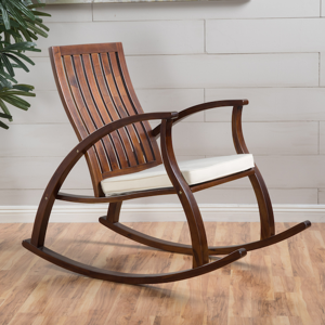 Peachy Christopher Knight Home 302188 Hank Mid Century Modern Fabric Rocking Chair Grey Light Walnut Ibusinesslaw Wood Chair Design Ideas Ibusinesslaworg