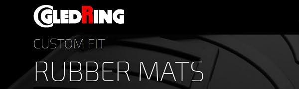 Gledring Satz Gummimatten Volkswagen T-Cross 3//2019- T Profil 4-teilig + Montage-clips