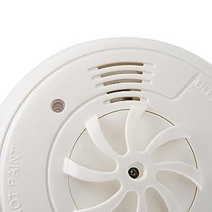 Un detector de humo activado por la temperatura