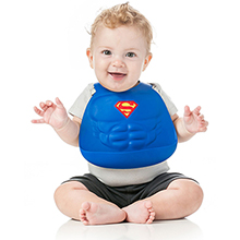 superman silicone baby bib