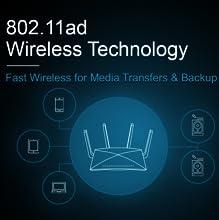 NETGEAR Nighthawk X10 – AD7200 802.11ac/ad Quad-Stream WiFi Router