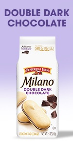 Dark Chocolate Milano cookies have just the right amount of luscious dark chocolate.