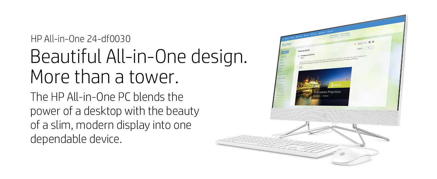 power dependable slim modern display HP All-in-One PC