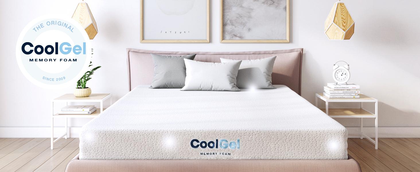 Twin White #2689 Classic Brands Cool Gel Memory Foam 6-Inch Mattress