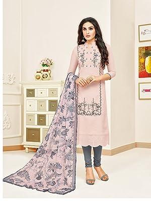 Rajnandini women's Modal Silk Embroidered dress Material
