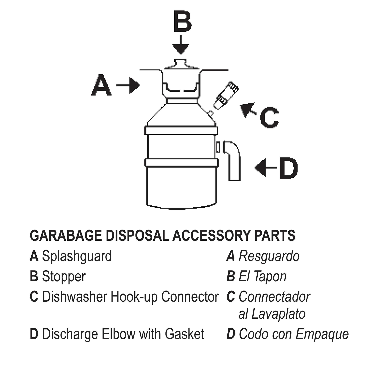 LASCO 39-9013 Insinkerator Disposal Replacement Plastic Stopper OEM No   4310 Fits Badger