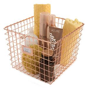 Spectrum Diversified Wire Storage Basket, Medium.