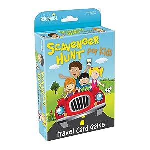 travel scavenger hunt for kids card game package